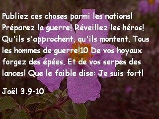 Joël 3.9-10