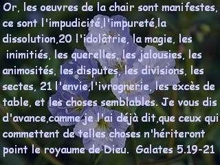 Galates 5.19-21.