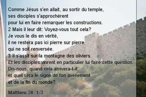 Matthieu 24 .1-3