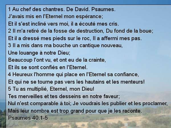 Psaumes 40.1-5