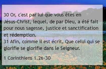 1 Corinthiens 1.26-30