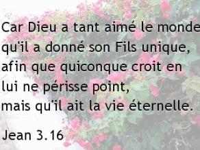 Jean 3.16...
