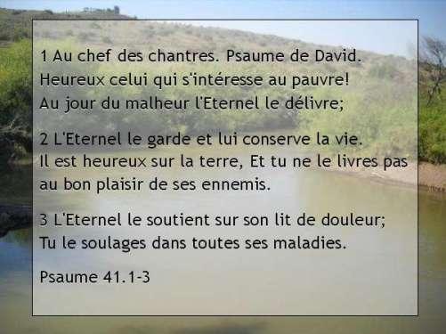 Psaume 41.1-3