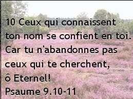 Psaume 9.10-11