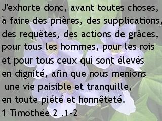 1 Timothée 2 .1-2