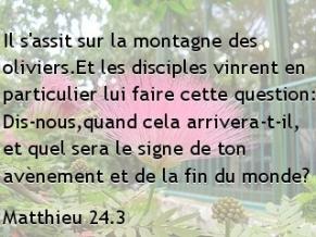 Matthieu 24.3