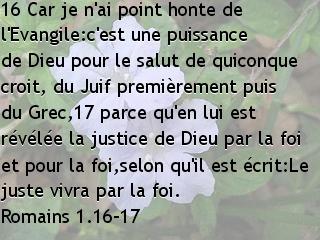 Romains 1.16-17