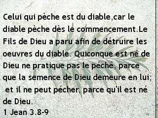 1 Jean 3.8-9.