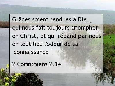 2 Corinthiens 2.14