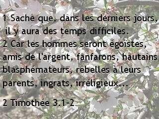 2 Timothée 3.1-2