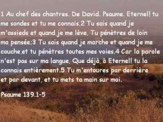 Psaume 139.1-5