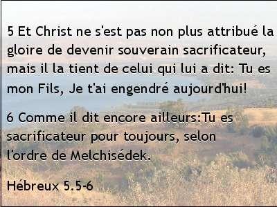 Hébreux 5.5-6