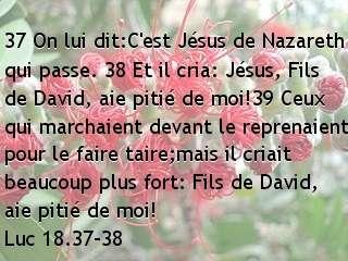 Luc 18.37-38