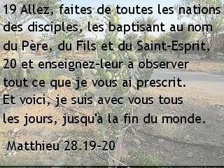 Matthieu 28.19-20.
