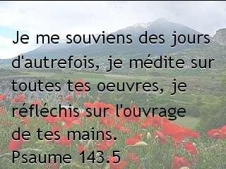 Psaume 143.5