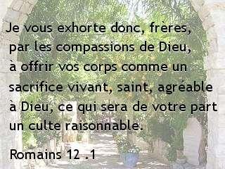 Romains 12 .1...