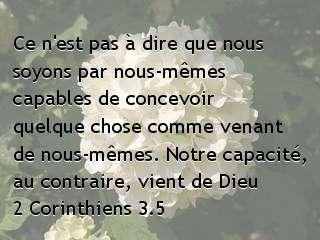 2 Corinthiens 3.5