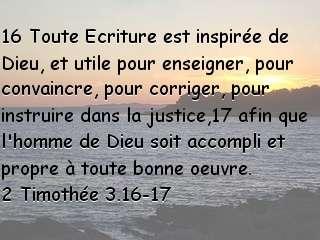 2 Timothée 3.16-17.....