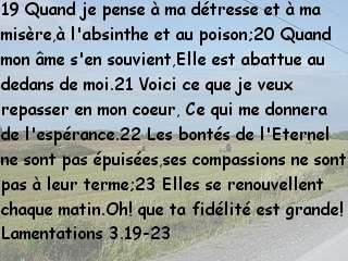 Lamentations 3.19-23