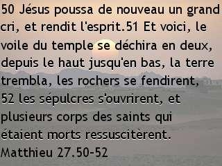 Matthieu 27.50-52