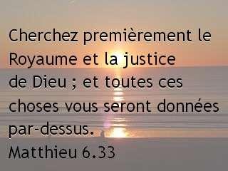 Matthieu 6.33