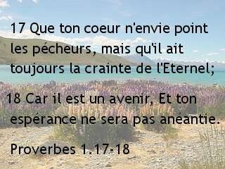 Proverbes 1.17-18