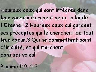 Psaume 119 .1-2