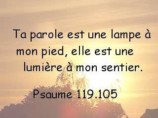 Psaume 119.105