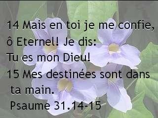Psaume 31.14-15