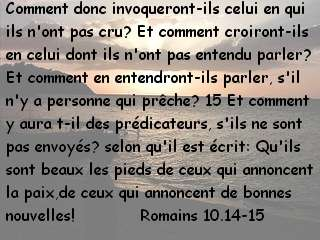 Romains 10.14-15