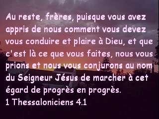 1 Thessaloniciens 4.1