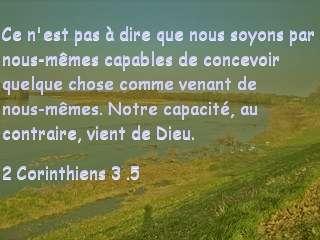 2 Corinthiens 3 .5