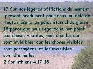 2 Corinthiens 4.17-18
