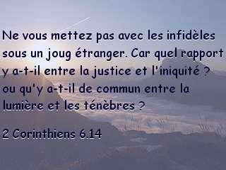 2 Corinthiens 6.14