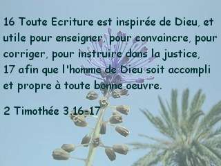 2 Timothée 3.16