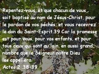 Actes 2 .38-39