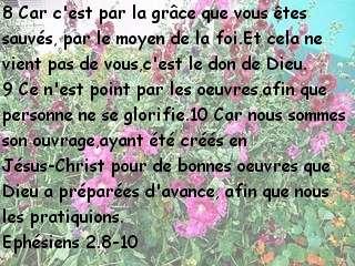 Ephésiens 2.8-10