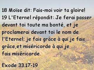 Exode 33.17-19