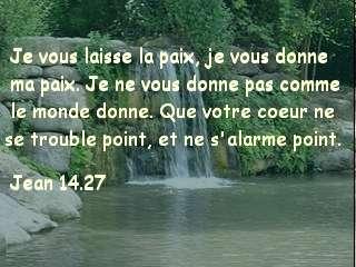 Jean 14.27 .
