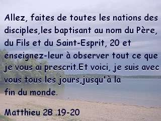 Matthieu 28 .19-20