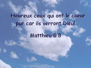 Matthieu 5.8