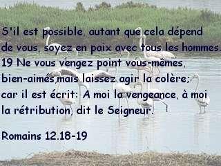 Romains 12.18-19