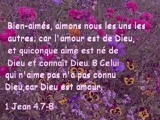1 Jean 4.7-8