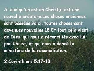 2 Corinthiens 5.17-18