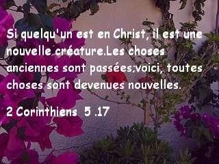 2 Corinthiens 5.17..