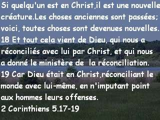 2 Corinthiens 5.17-19