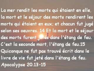 Apocalypse 20.13-15