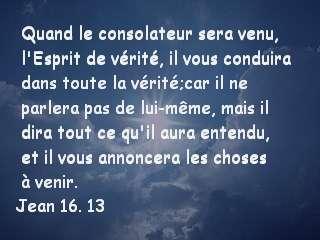 Jean 16. 13