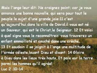 Luc 2 .10-14