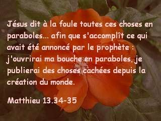 Matthieu 13.34-35
